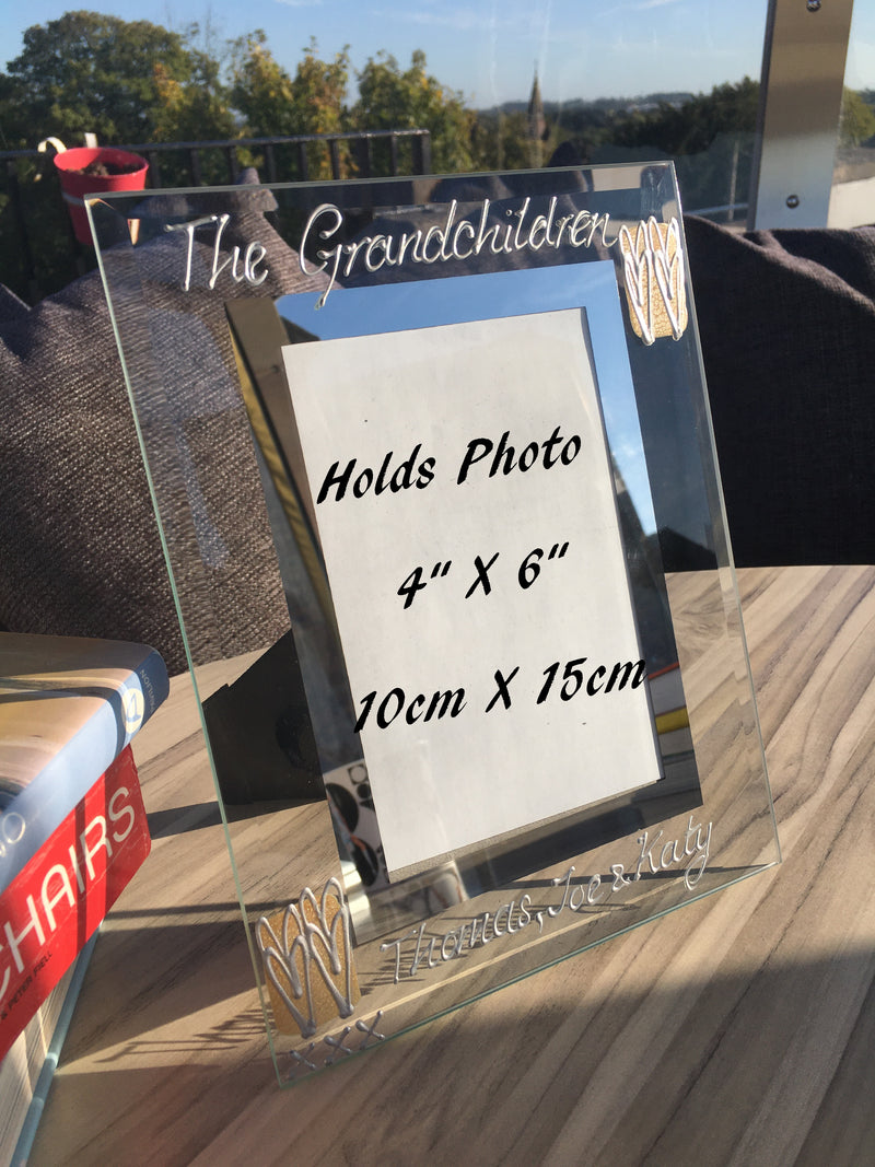 The Grandchildren Gift Photo Frame: (P) Coffee/Heart