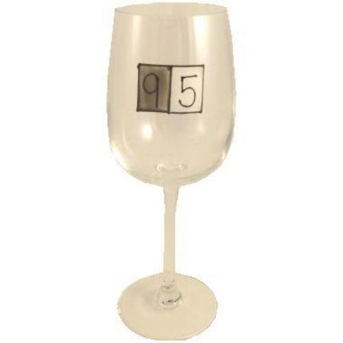95th Birthday Wine Glass Grey Sq