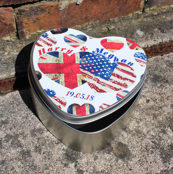Royal Wedding Heart Shaped Tin: (Harry & Meghan)