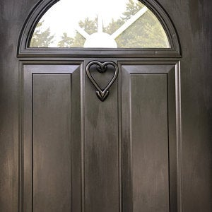 Heart Shaped Door Knocker Black:
