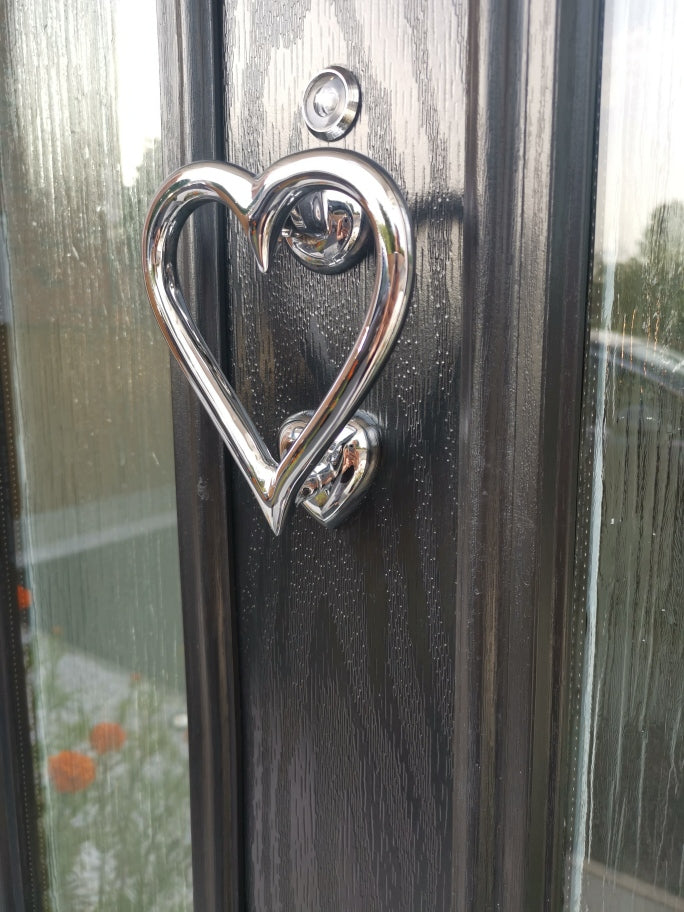 Heart Shaped Door Knocker (Chrome)