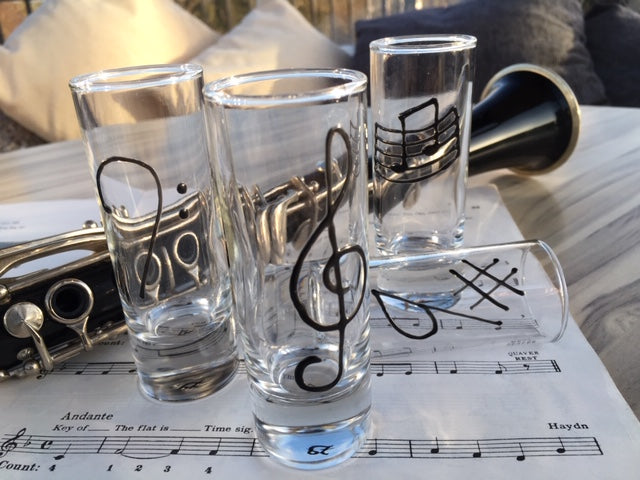 Music Shot Glass Set of 4