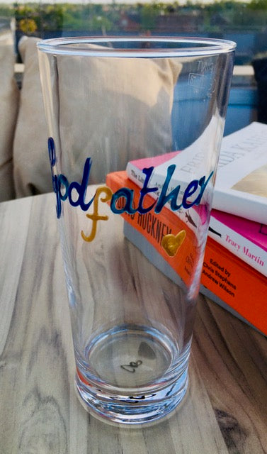 Godfather Gift Pint Glass: (Multicoloured)
