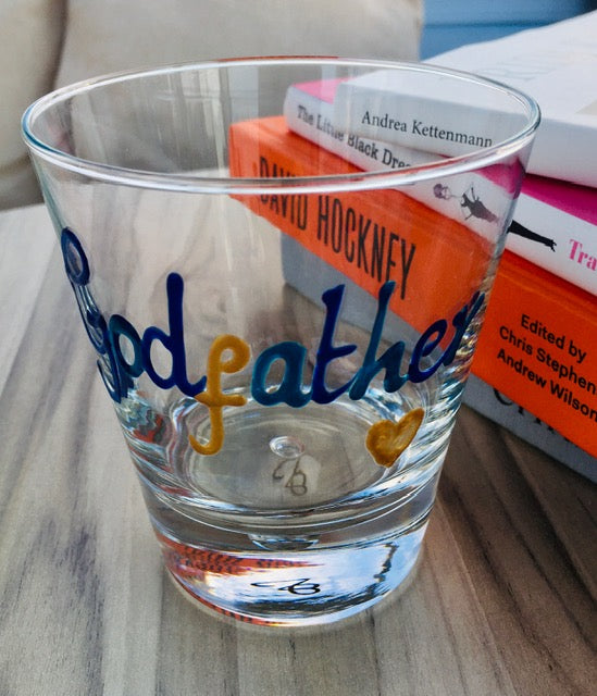 Personalised Wording Gift Whisky Glass: (Multicoloured)
