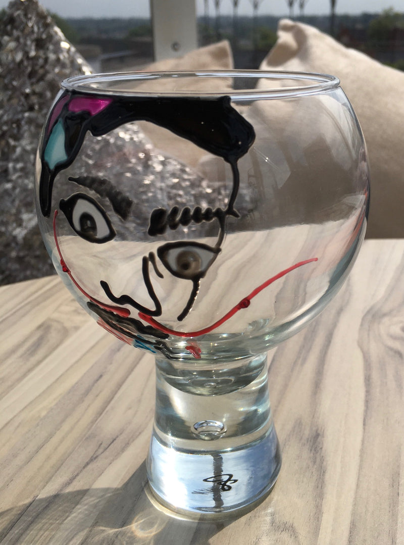 Salvador Dali Gin and Tonic: Glass with Crystals