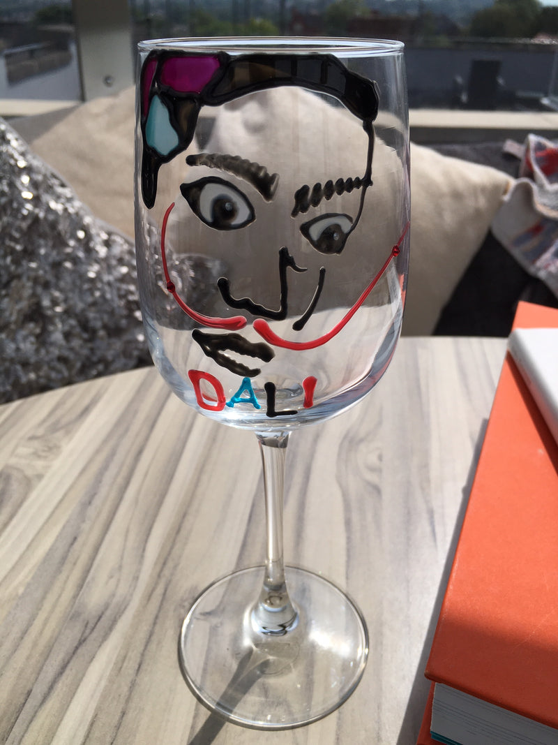 Salvador Dali Luxury Wine Glass: with Crystals