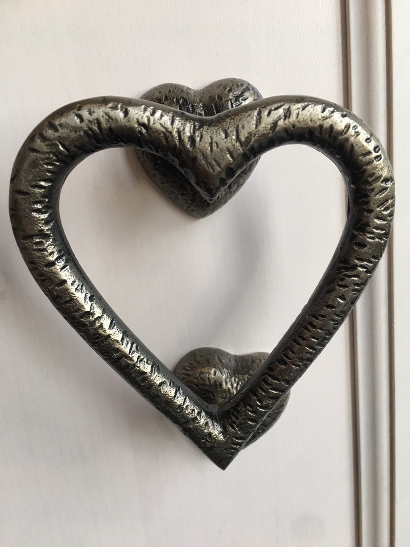Heart Door Knocker Textured Gunmetal
