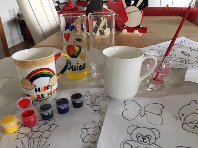 Paint Your Own Craft Kit 10: (2 China Mugs & 2 Highball Glasses)