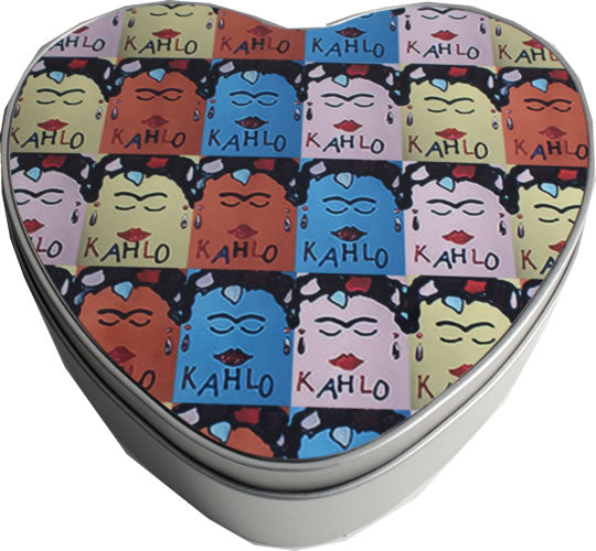 Frida Kahlo Heart Shaped Tin: