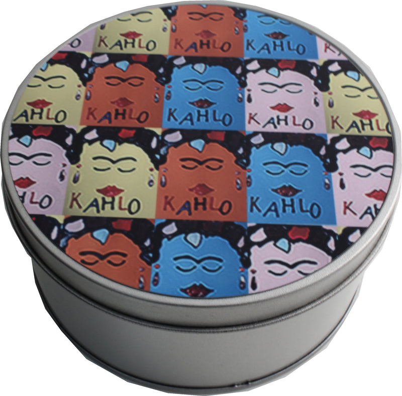 Frida Kahlo Round Shaped Tin: