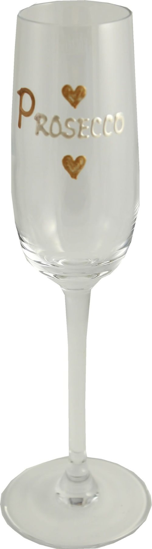 Love Prosecco Gift Champagne Glass: (gold heart)