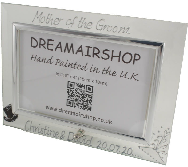 Personalised Mother of the Groom Photo Frame Land (Hat & Tiara)