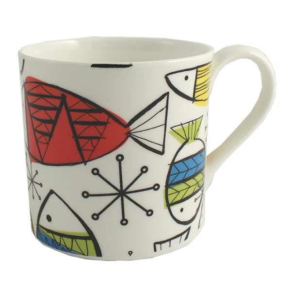 Funky Fish China Mug (White)
