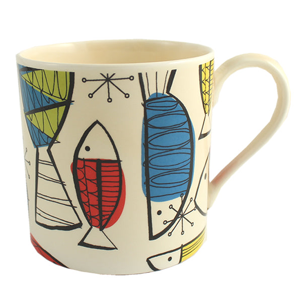 Funky Fish China Mug (Cream)