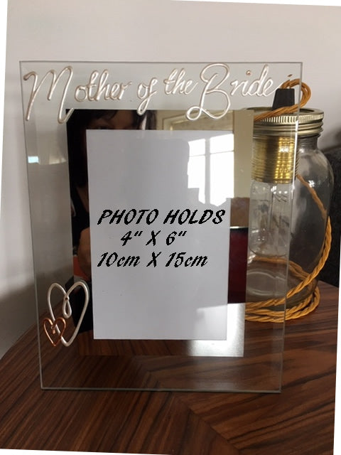 Mother of the Bride Photo Frame Pearl