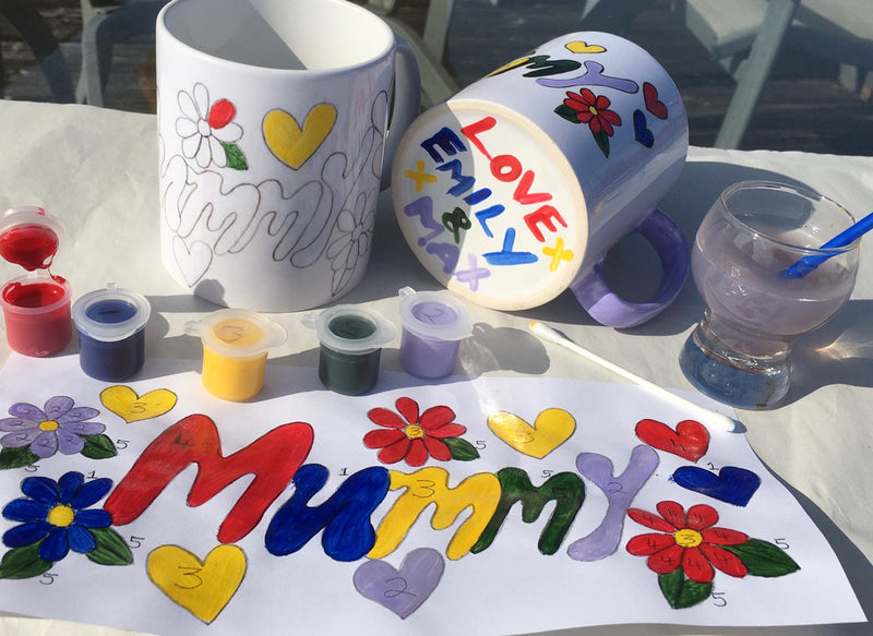 Paint by Numbers Mug Mummy Craft Kit