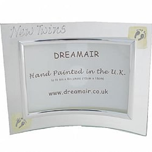 New Twins Gift Photo Frame: (Land)Cream