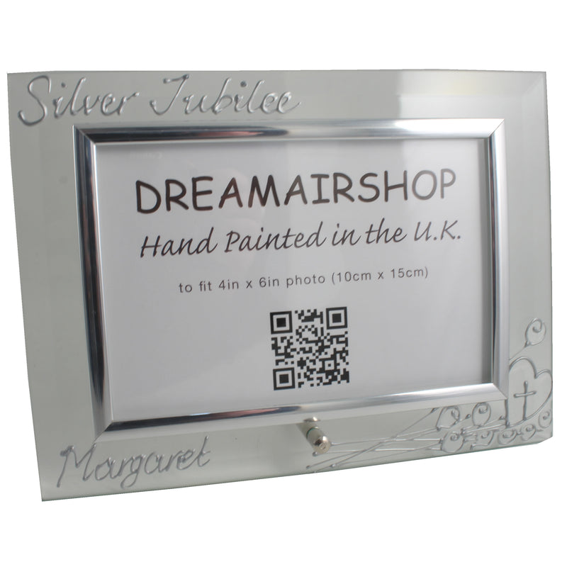 Personalised Nun Silver Jubilee Photo Frame Land