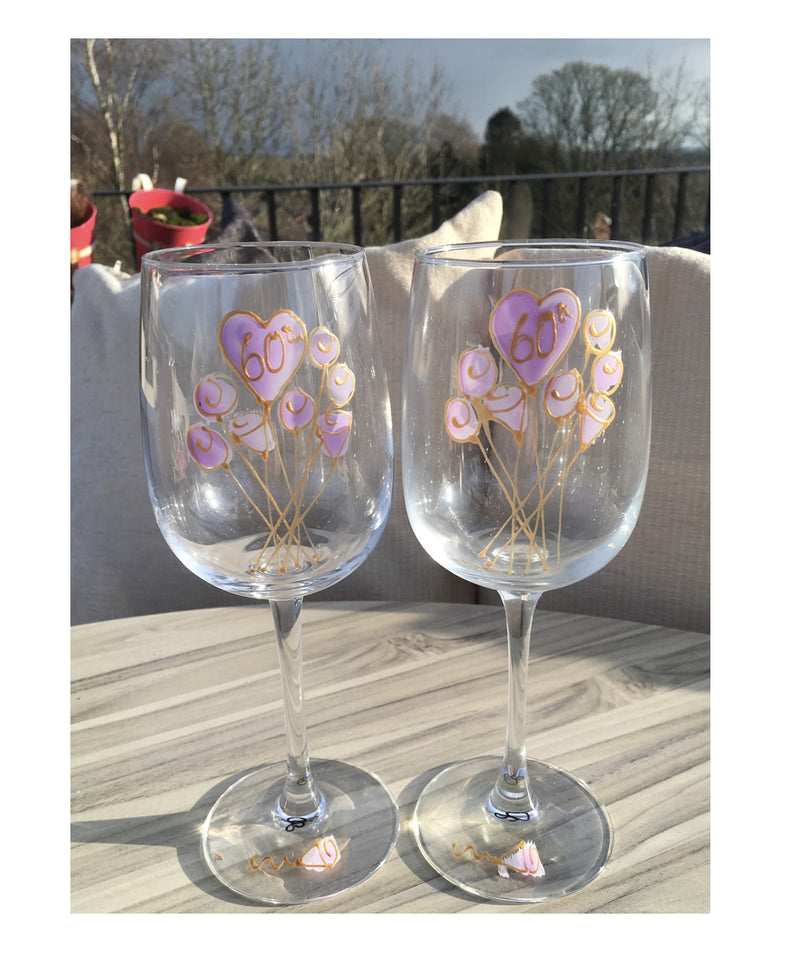60th Anniversary Wine Glasses