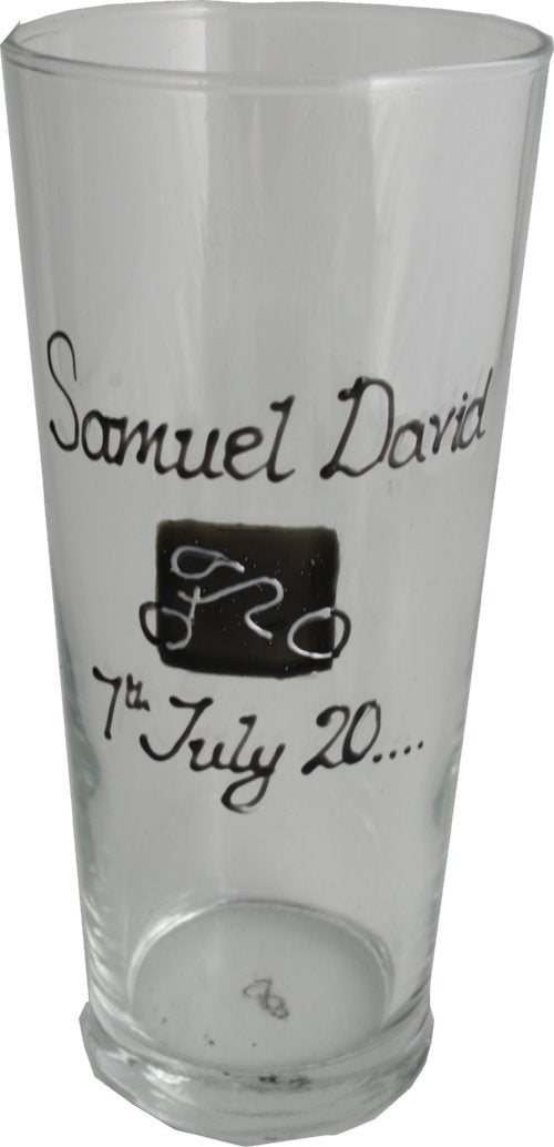 Personalised Gift Cycling Pint Glass: