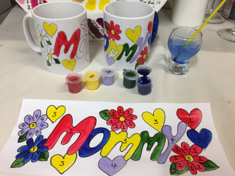 Painting by Numbers Mug Craft Kit MOMMY