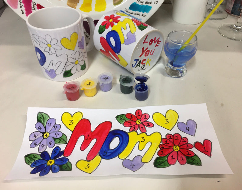 Painting by Numbers Mug Craft Kit MOM