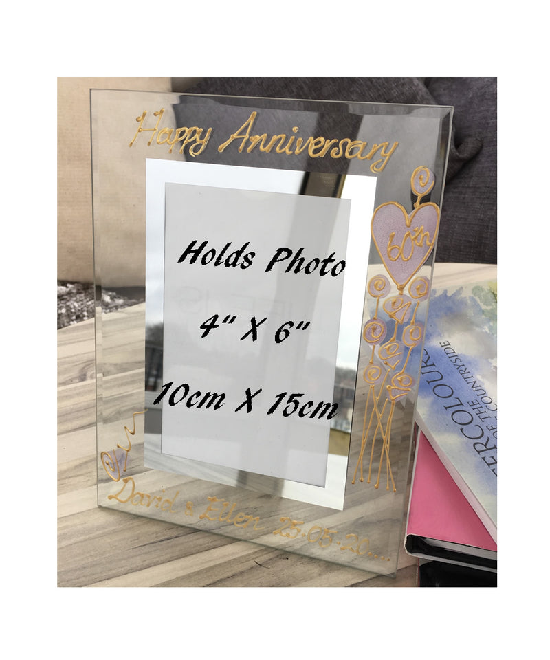 Personalised 60th Anniversary Portrait Picture Frame Flowet
