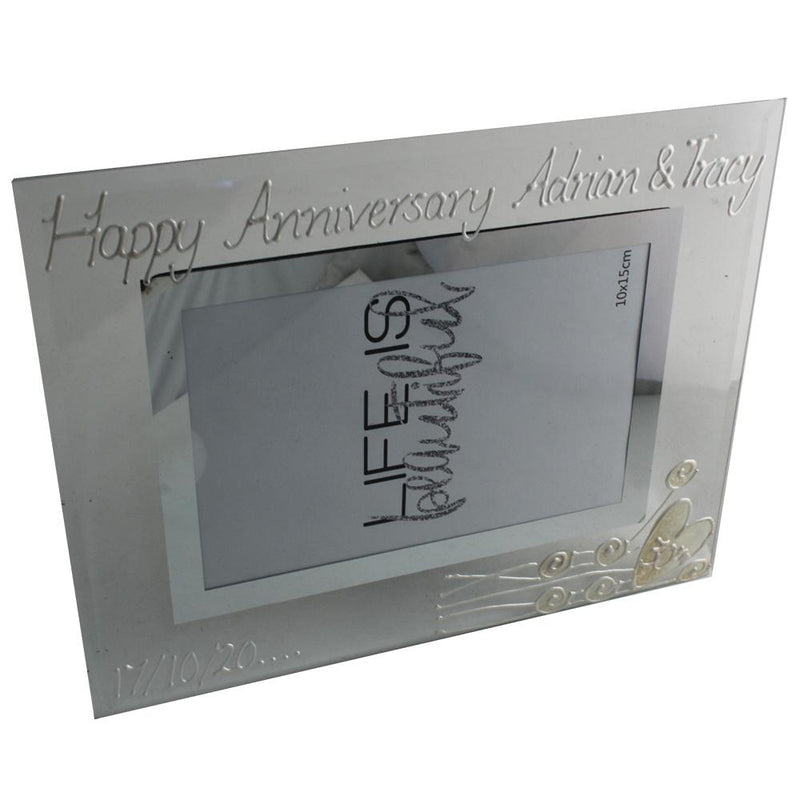 Personalised 30th Anniversary Photo Frame Flower