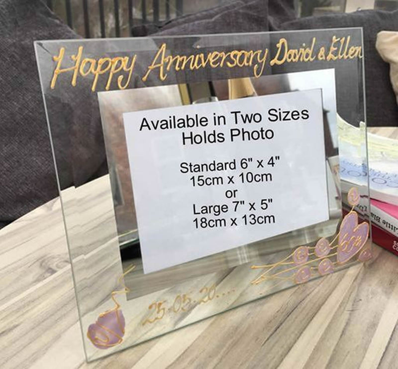 60th Wedding Anniversary Gift Photo Frame Landscape (Flwr)