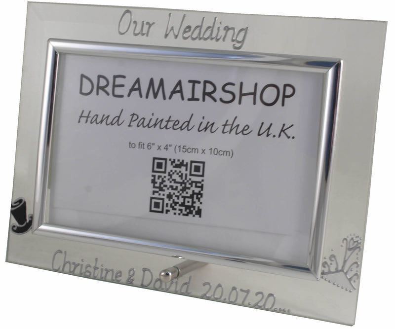 Personalised Our Wedding Photo Frame (Hat & Tiara)