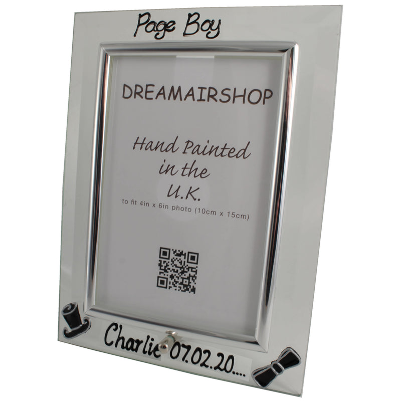 Personalised Page Boy Photo Frame Port
