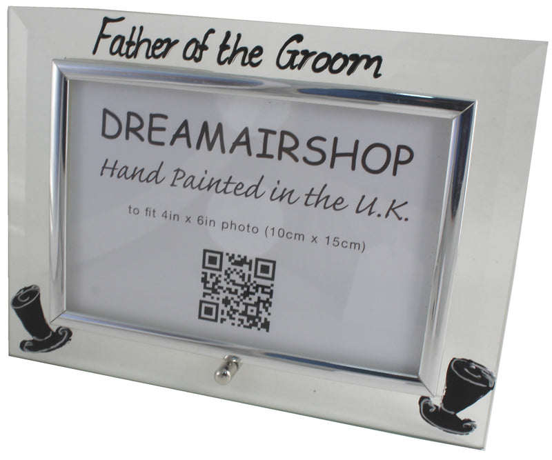 Father of the Groom Photo Frame Land (Top Hats)