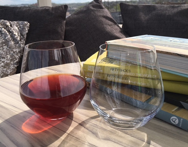 Titanium Crystal Stemless Red Wine: Glass/Tumbler Set 2