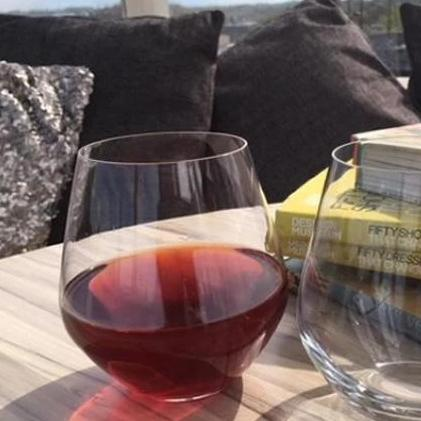 Titanium Crystal Stemless Red Wine: Glass/Tumbler