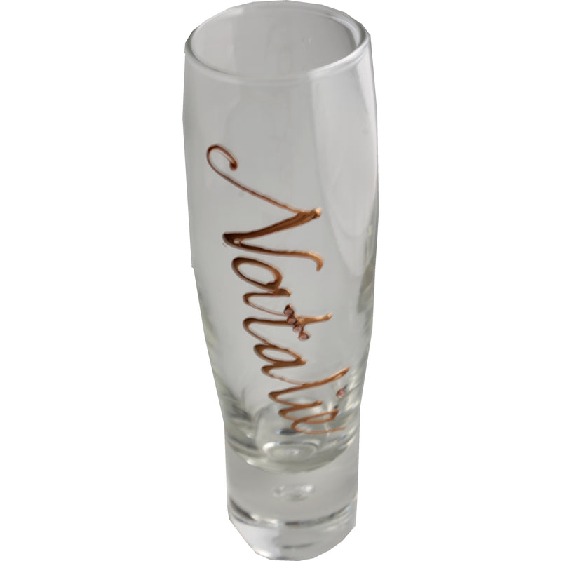 Personalised Bubble Champagne/Prosecco Flute Glass: Copper with Crystals