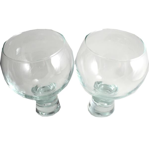 Gin and Tonic, Wine Large Bubble Glass Set 2
