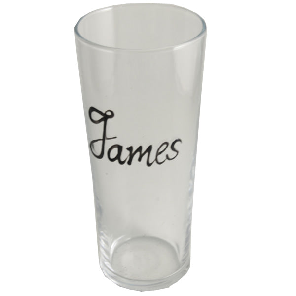 Personalised Wording Gift Pint Glass: (Black)