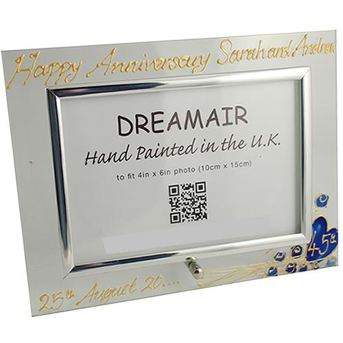 Personalised Land Frame Blk/Sil
