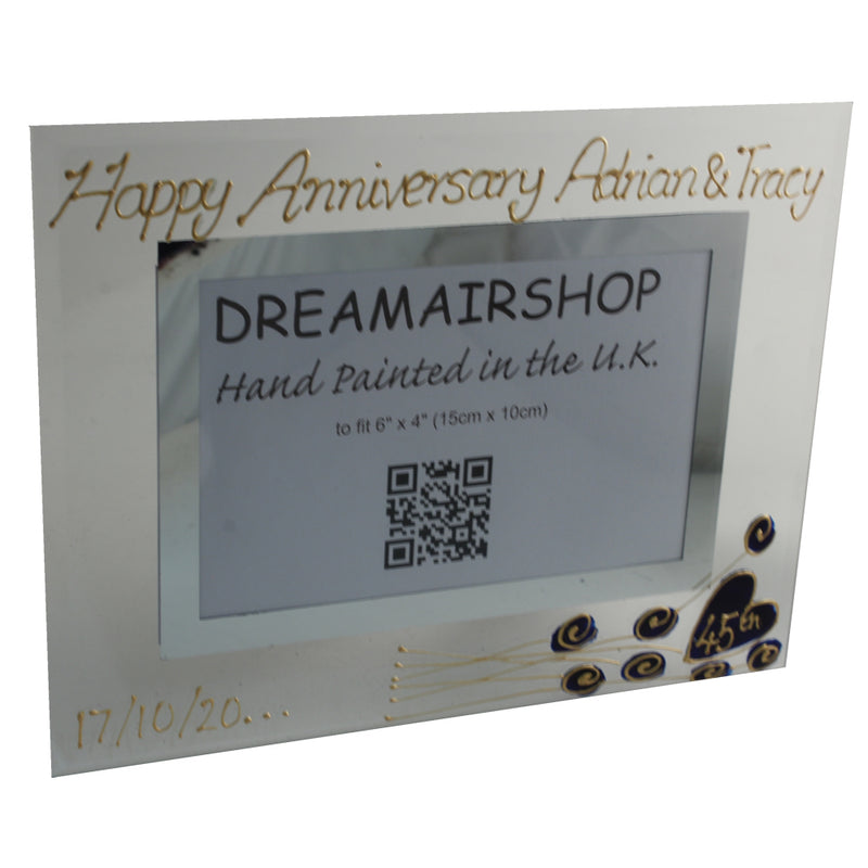 45th Wedding Anniversary Gift Photo Frame Landscape (Flwr)