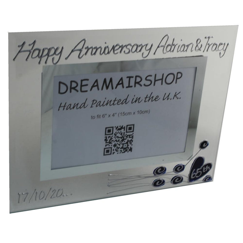 Personalised 65th Anniversary Photo Frame Flower