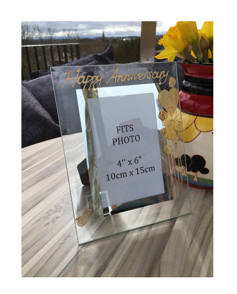 1st Wedding Anniversary Gift Photo Frame Portrait (Flower)