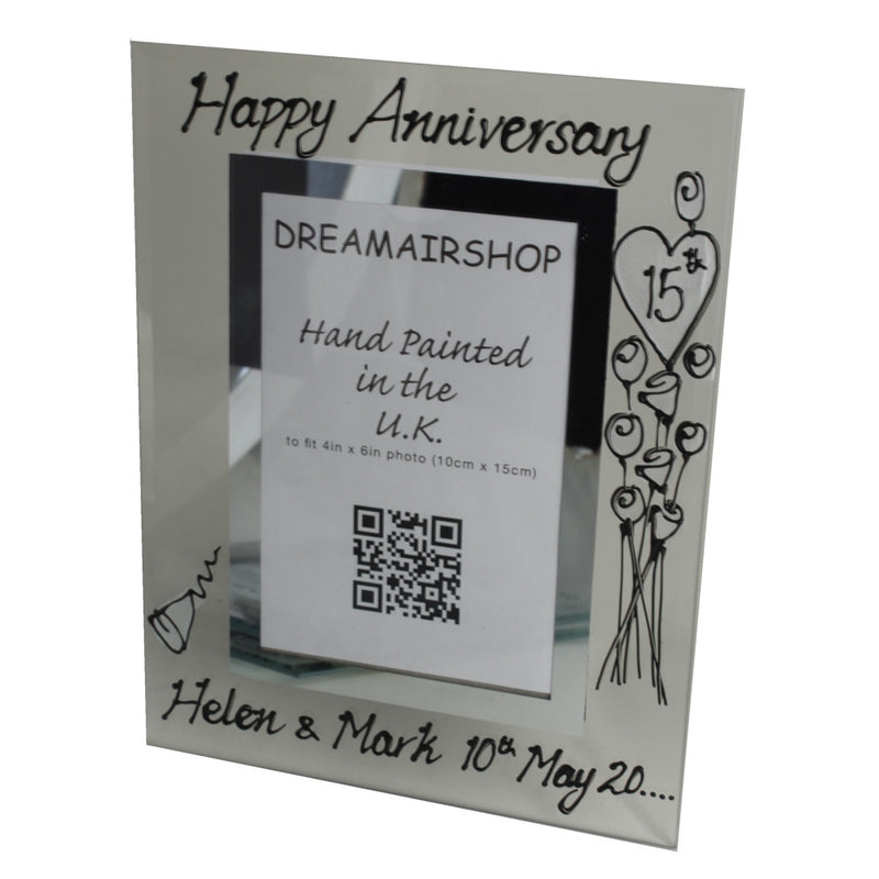 personalised 15th  wedding anniversary Photo Frame Portrait