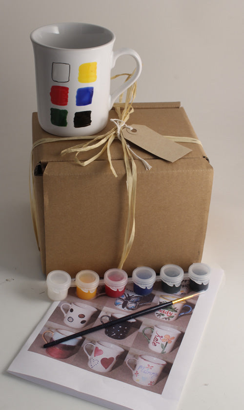 Paint Your Own Gift Mugs: with Gift Tag
