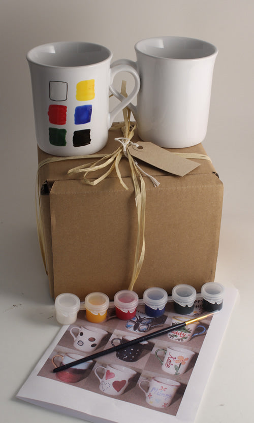 Paint Your Own Mugs Kit: (4 mugs)