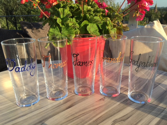 Personalised Wording Gift Pint Glass: (Blue)