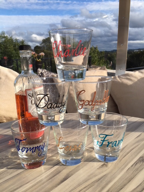 Personalised Whisky Glass (Turquoise)
