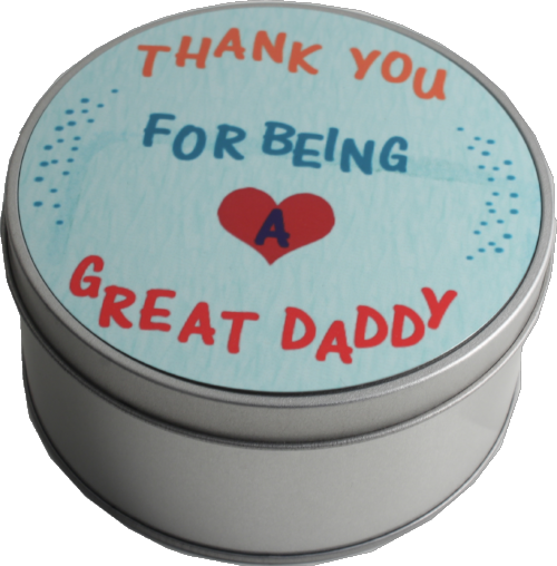 Daddy Gift Round Shaped Tin: