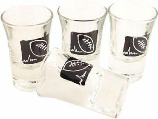 Rugby Shot Glasses (Set of 4)