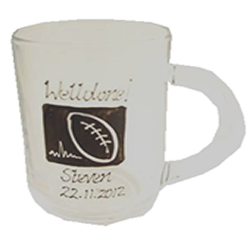 Personalised Rugby Gift Glass Tankard: