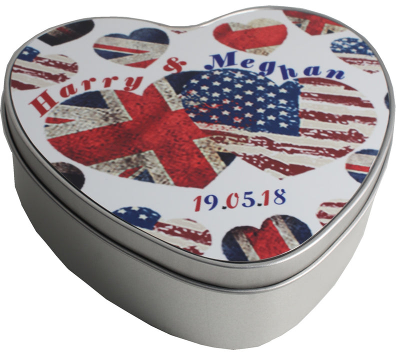 Royal Wedding Heart Tin (Harry & Meghan)